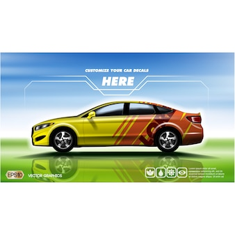Design de competência do carro fundo