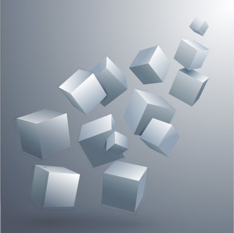 Design de cubos de fundo