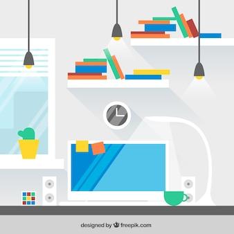 Design de espaço de trabalho moderno