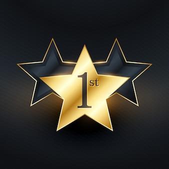 Design de etiqueta de 1ª estrela vencedora