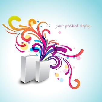 Design de exibição de produtos artísticos vetoriais