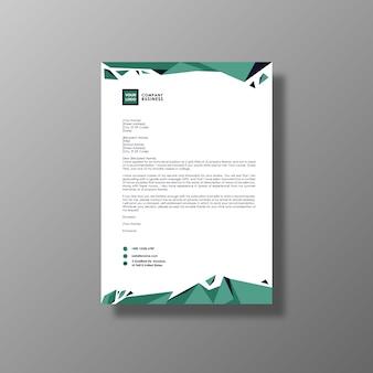 Design de folheto empresarial verde e branco