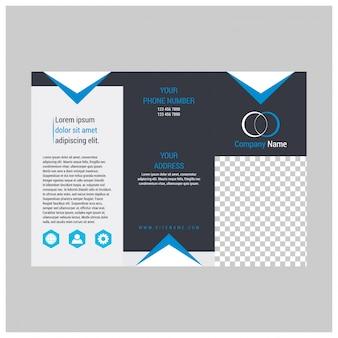 Design de folhetos, modelo de brochura, tri-fold criativo, folheto de tendências