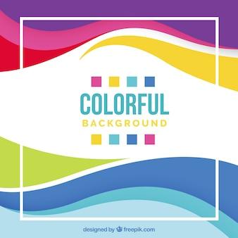 Design de fundo colorido
