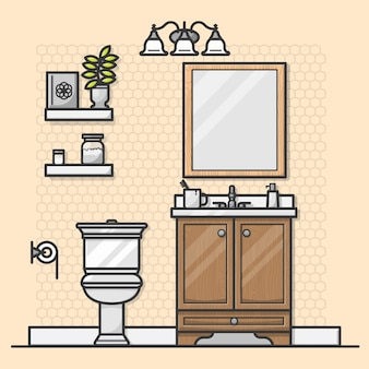 Design de interiores de banheiro