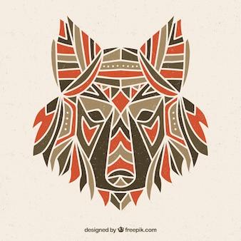 Design de lobo ornamental