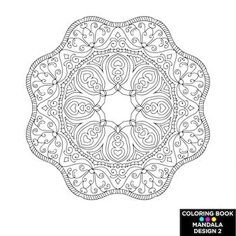 Design de mandala do livro para colorir