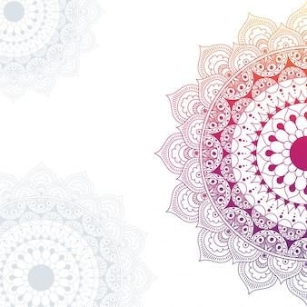 Design de ornamentos de mandala étnica.