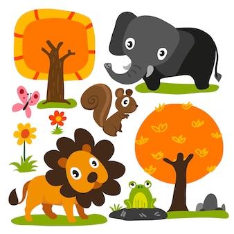 Design de personagem de animais
