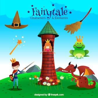 Design de personagens contos de fadas