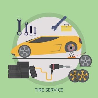 Design de pneu serviço de fundo