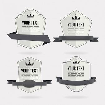 Design de quatro badge