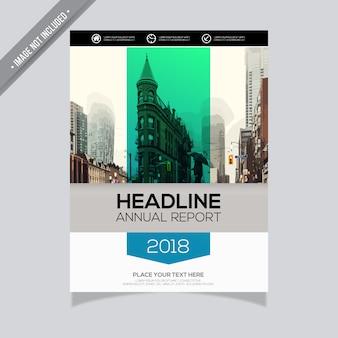 Design de relatório anual elegante