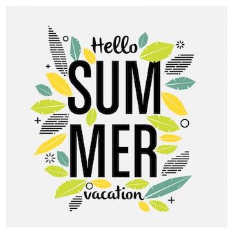 Design de saudação de verão