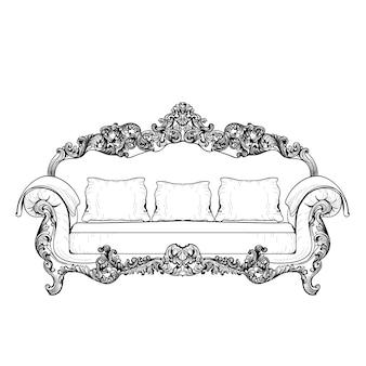 Design de sofá decorativo