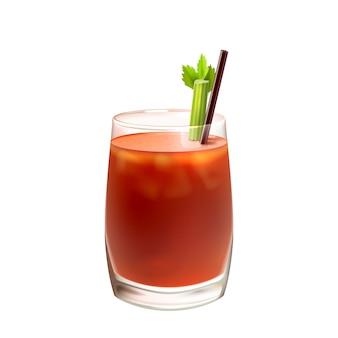 Design de suco de tomate