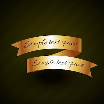 Design de vetor de fita dourada com espaço para o seu texto