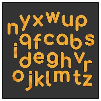 Design do alfabeto amarelo