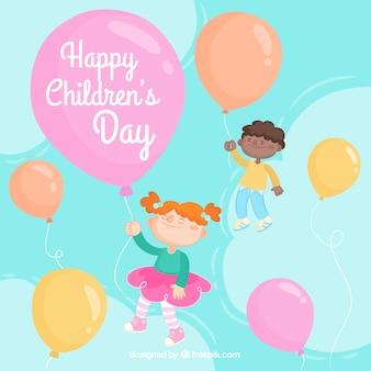 Design do dia das crianças com balões