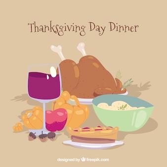 Design do jantar de Ação de Graças