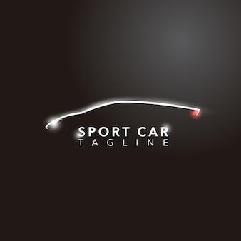 Design do logotipo do carro desportivo