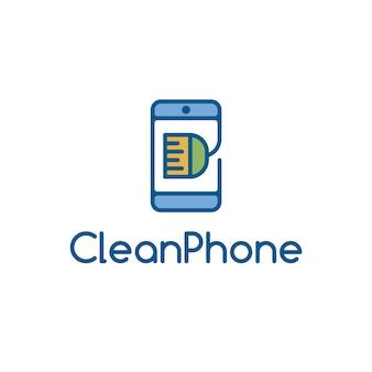 Design do logotipo do telefone limpo
