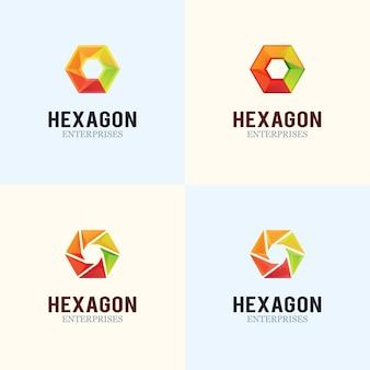 Design do logotipo Hexagon