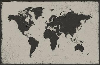 Design do mapa mundial do vintage