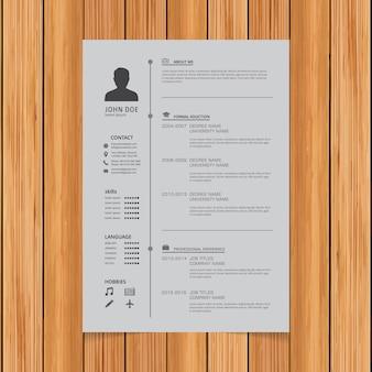Design do modelo do Curriculum