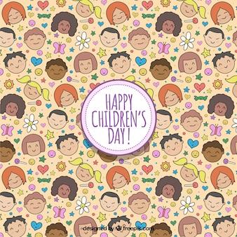 Design do padrão do dia das crianças