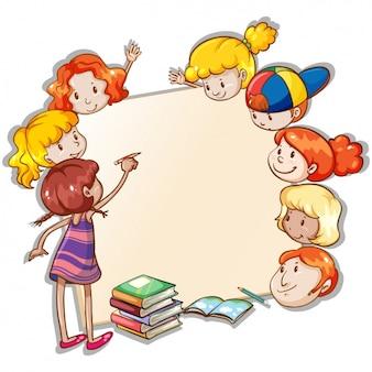 Design do quadro crianças