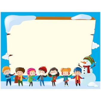 Design do quadro de Inverno