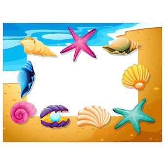 Design do quadro de praia