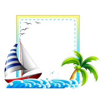 Design do quadro Mar
