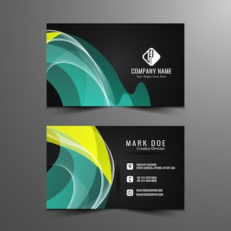 Design elegante e elegante do cartão de visita
