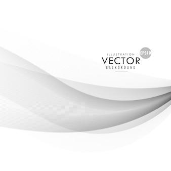 Design elegante vetor de onda fundo cinza