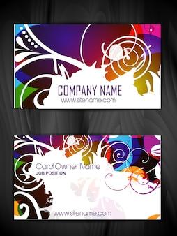 Design floral do cartão de visita do estilo floral do vetor