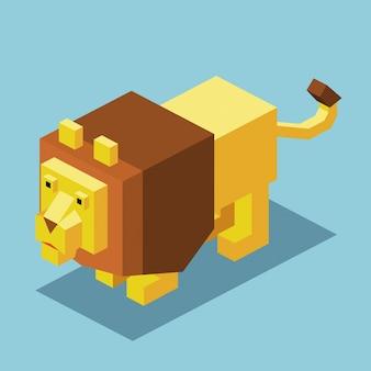 Design isométrico do leão