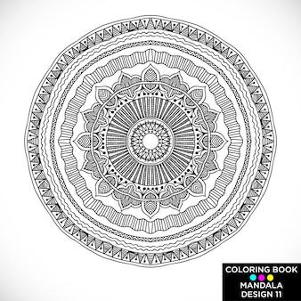 Design Mandala para livro para colorir