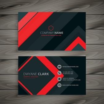 design minimalista do cartão de visita escuro