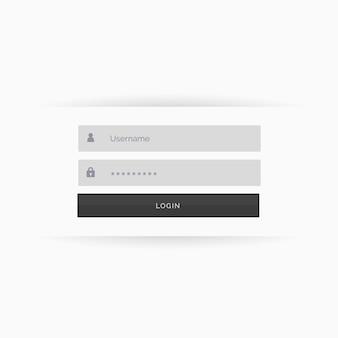 Design minimalista limpo interface de usuário modelo de formulário de login