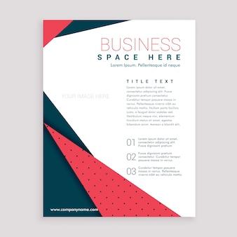 Design mínimo do folheto de negócios design da página de capa do folheto em A4