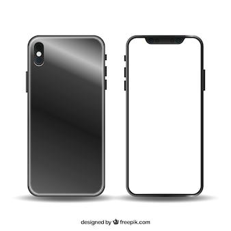 Design moderno de smartphone com tela branca