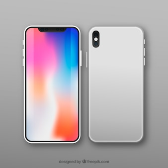 Design moderno de smartphone com tela colorida