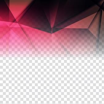 Design poligonal moderno em fundo transparente