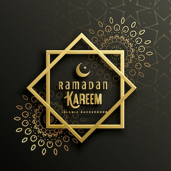 Design ramadan bonito do cartão do kareem com arte da mandala