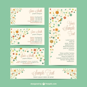 Design set identidade corporativa flores