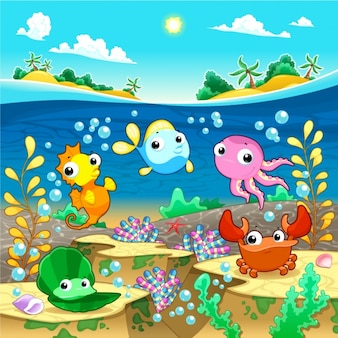 Desing backgound Sealife