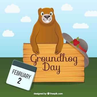 Dia da Marmota feliz