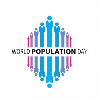 Dia da população mundial Pessoas no fundo branco